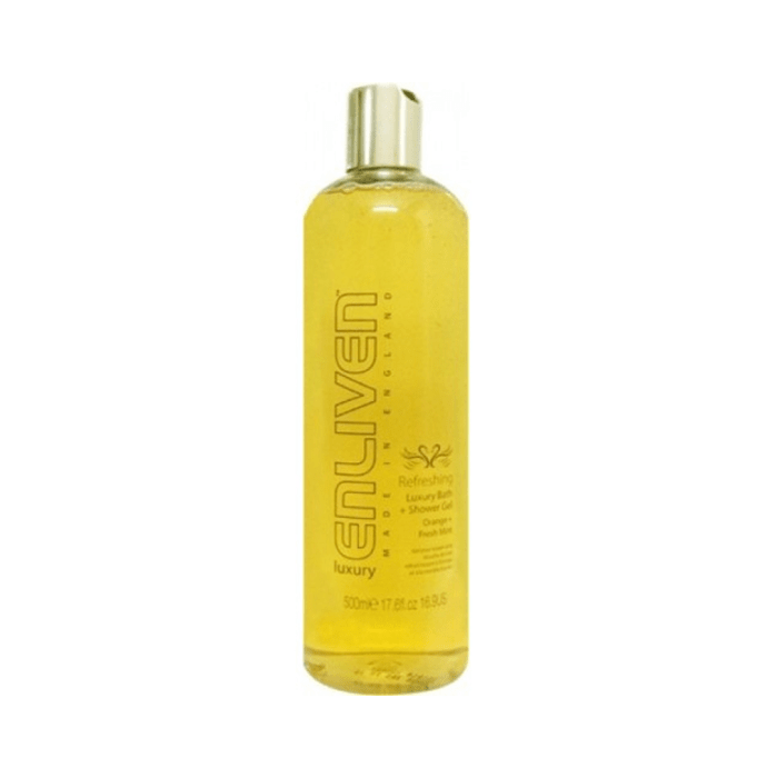 Enliven Luxury Bath and Shower Gel Refreshing Orange and Fresh Mint