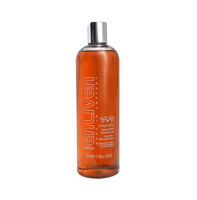 Enliven Luxury Bath and Shower Gel Invigorating Geranium and Mountain Pepper