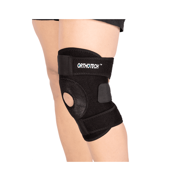Orthotech OR-2113 Open Patella Knee Support Black