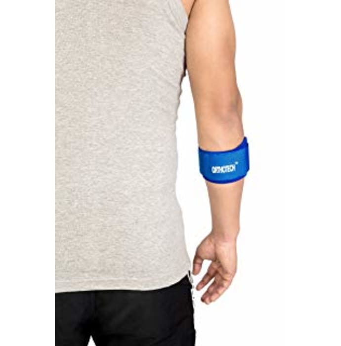 Orthotech OR-3121 Tennis and Golf Elbow Support Free Size Blue
