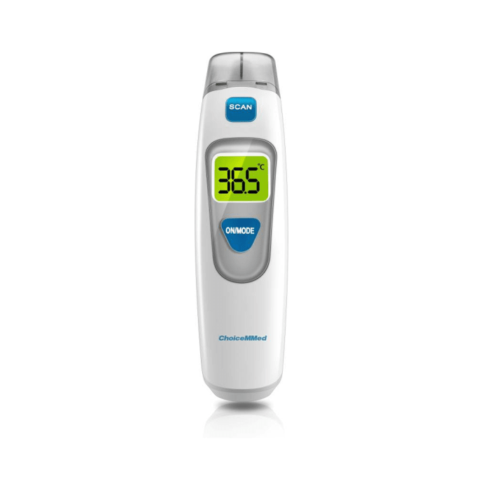 ChoiceMMed CT5D1 Infrared (Dual Mode-Forehead & Ear) Thermometer White