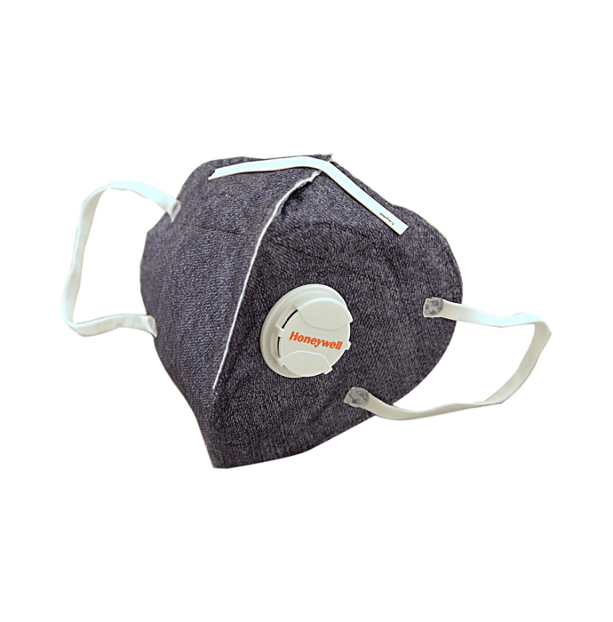 Honeywell PM 2.5 Anti Pollution Foldable Face Mask with Easy Exhalation Valve Dark Blue