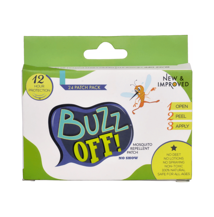 Buzz Off! Mosquito Repellent Patch - Adults Pack Lemon