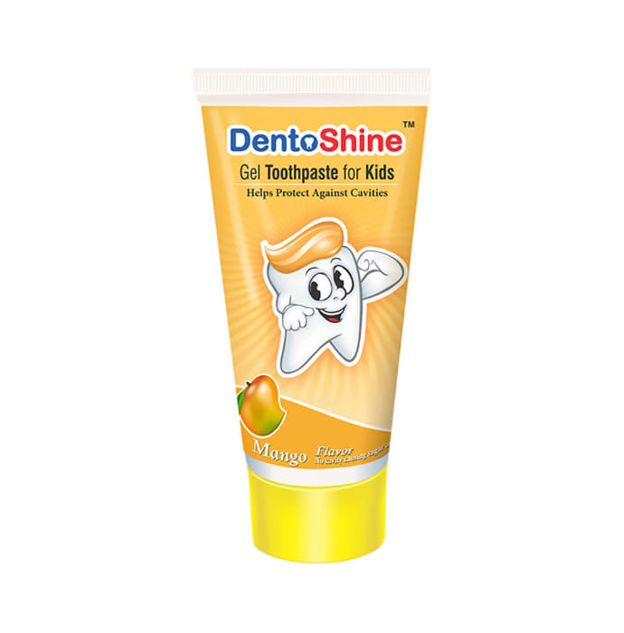 DentoShine Gel Toothpaste 80gm for Kids Mango Pack of 3