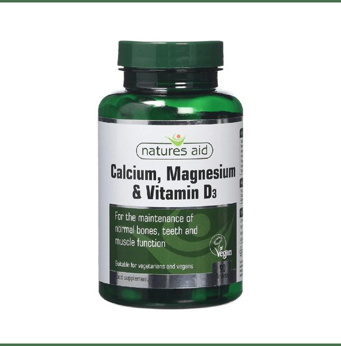 Natures Aid Calcium, Magnesium & Vitamin D3 Tablet