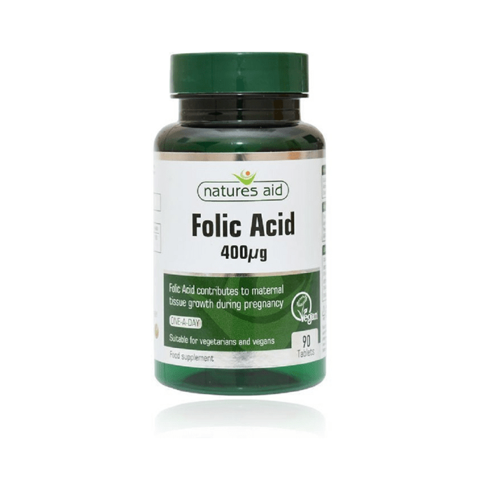 Natures Aid Folic Acid 400ug Tablet