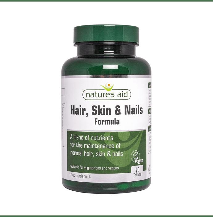 Natures Aid Hair, Skin & Nails Formula Tablet
