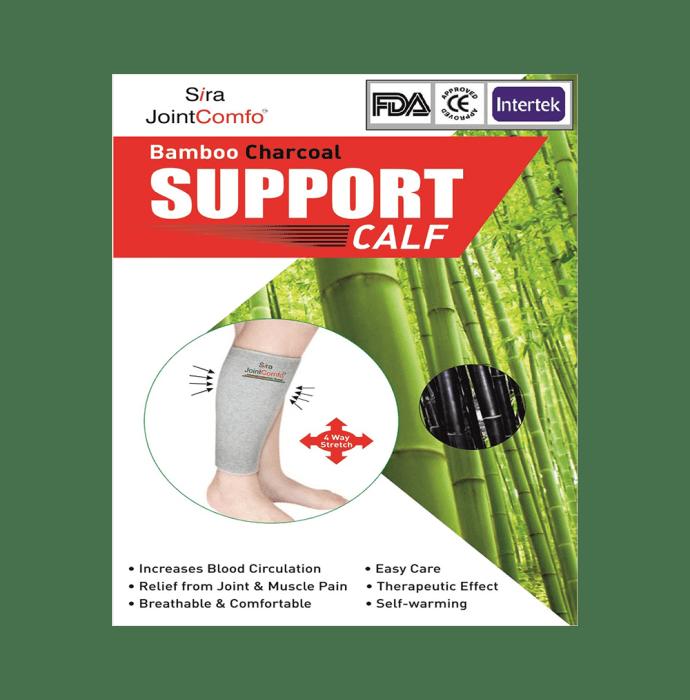 Sira Bamboo Charcoal Calf Sleeve Support