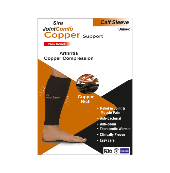 Sira Copper Compression Calf Sleeve Support S