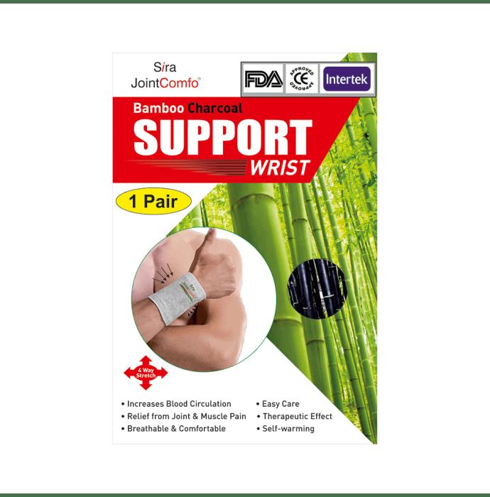 Sira Bamboo Charcoal Wrist Support M