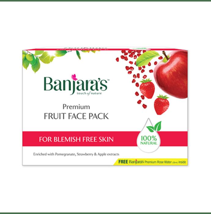 Banjara's Premium Fruit Face Pack with Rose Water 30ml Free