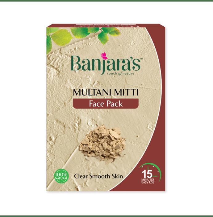 Banjara's Multani Mitti Face Pack Powder Pack of 3