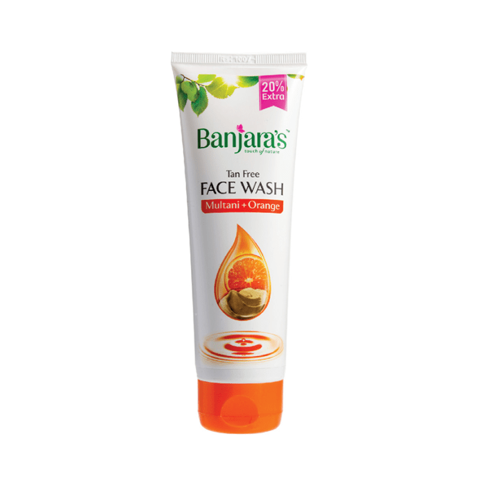 Banjara's Multani Mitti and Orange Tan Free  Face Wash