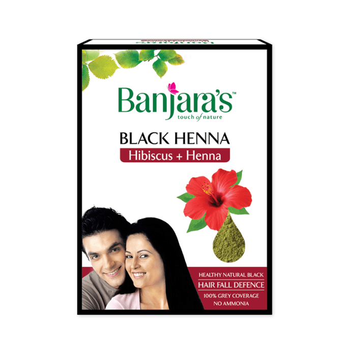 Banjara's Black Henna Hibiscus Pack of 2