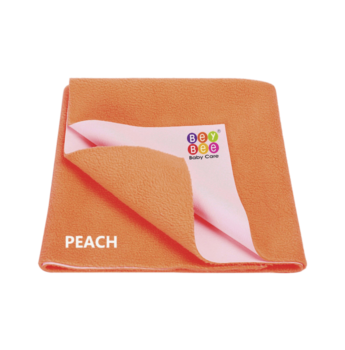 Bey Bee Waterproof Mattress Protector Dry Sheet For Babies and Adults (200cm X 140cm) Sheet XL Peach