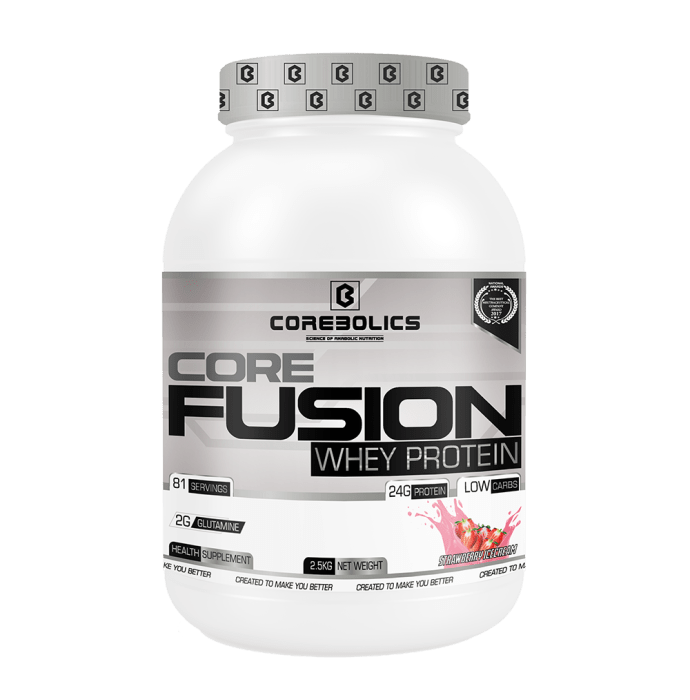 Corebolics Core Fusion Whey Protein Strawberry Ice-Cream