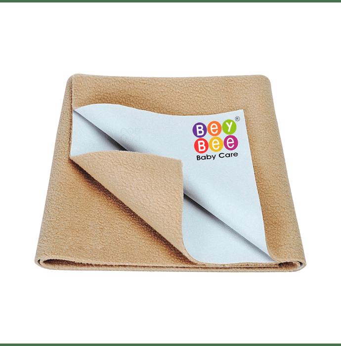 Bey Bee Waterproof Baby Bed Protector Dry Sheet for New Born Babies (70cm X 50cm) S Beige