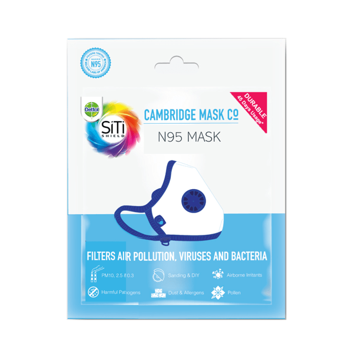 Dettol Cambridge Basic N95 Anti-pollution Mask M Black