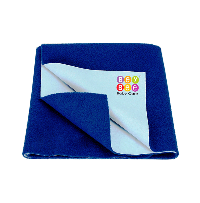 Bey Bee Waterproof Baby Bed Protector Dry Sheet for Toddlers (100cm X 70cm) M Royal Blue