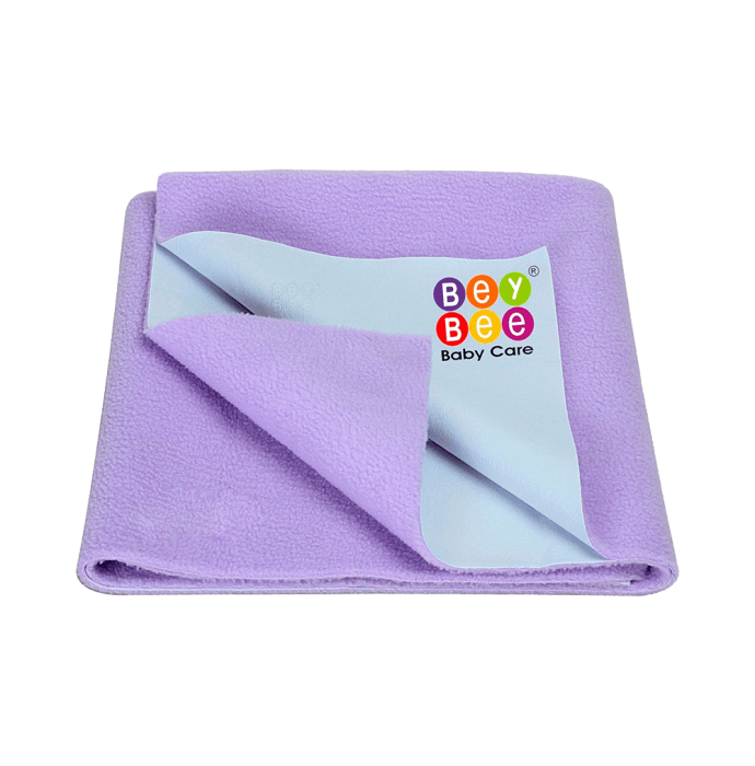 Bey Bee Waterproof Baby Bed Protector Dry Sheet for Toddlers (100cm X 70cm) M Purple