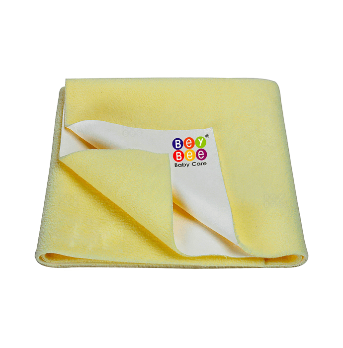 Bey Bee Waterproof Baby Bed Protector Dry Sheet for Toddlers (100cm X 70cm) M Yellow