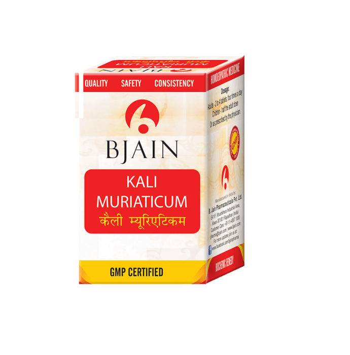 Bjain Kali Muriaticum Biochemic Tablet 6X