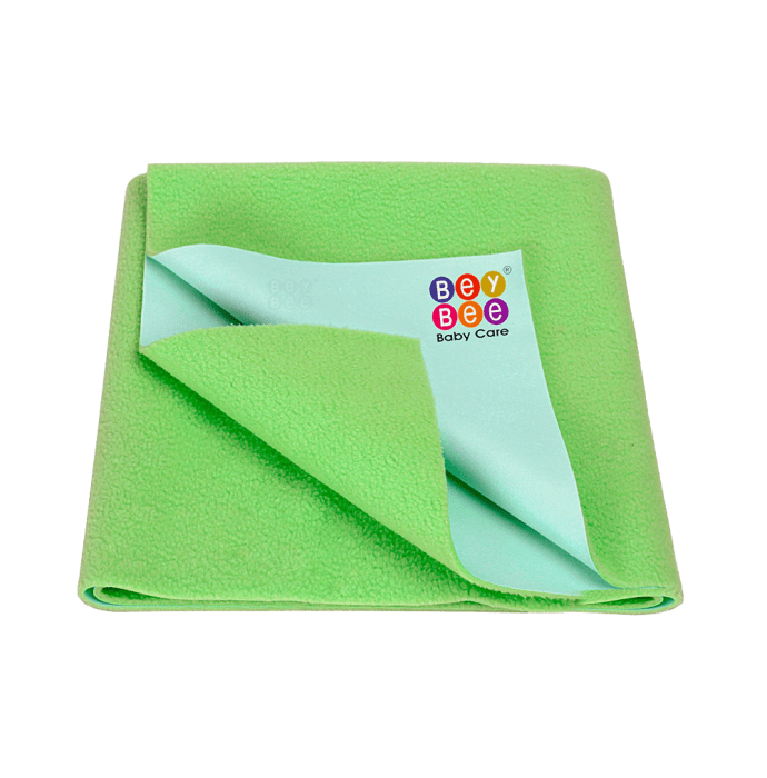 Bey Bee Waterproof Mattress Protector Dry Sheet For Babies and Adults (200cm X 140cm) Sheet XL Light Green