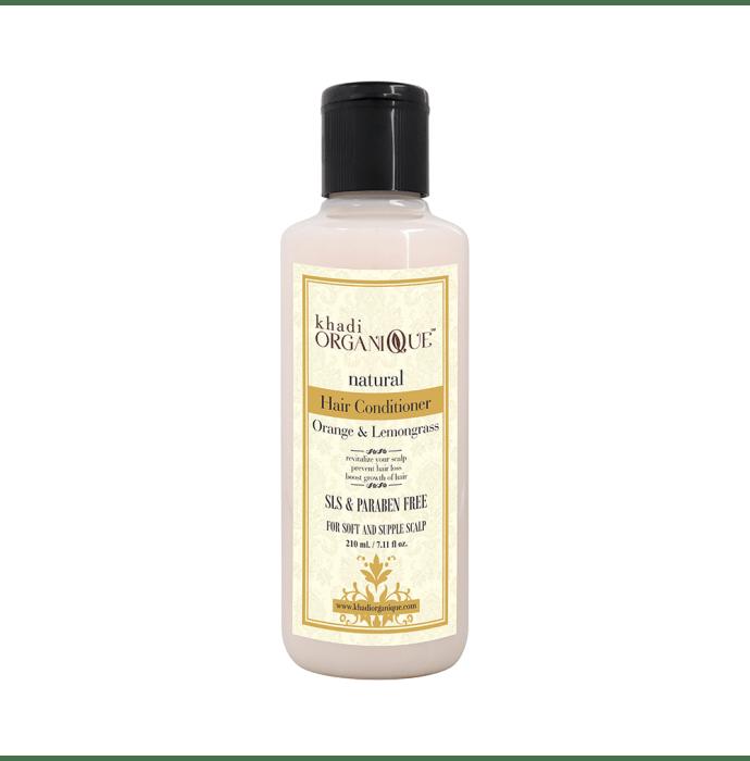 Khadi Organique Natural Hair Conditioner Orange and Lemongrass SLS Paraben Free
