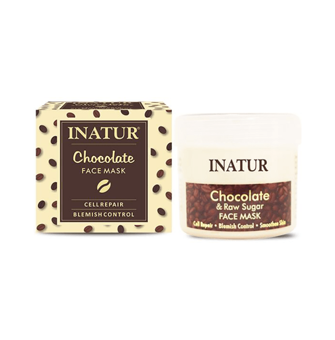 Inatur Face Mask Chocolate and Raw Sugar