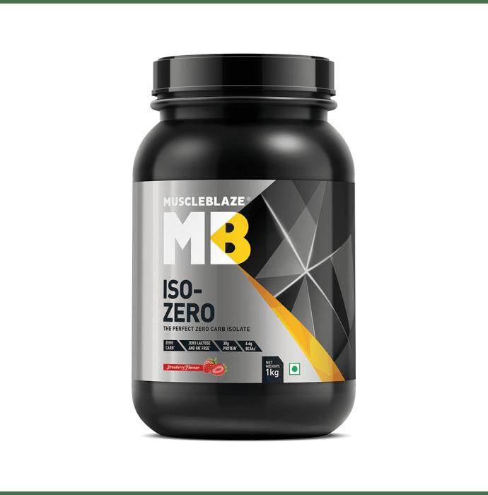 MuscleBlaze Iso-Zero Powder Strawberry