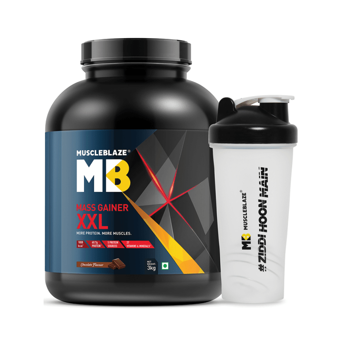 MuscleBlaze Mass Gainer XXL with Free Shaker Chocolate