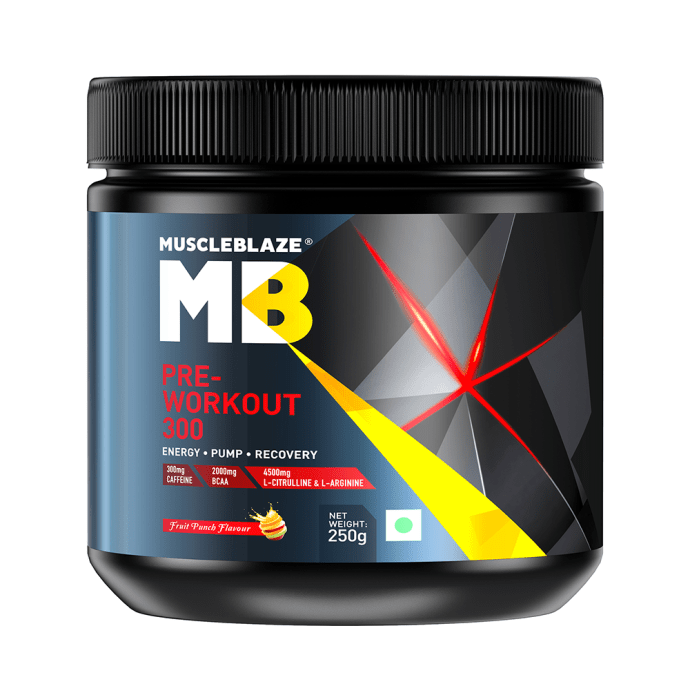 MuscleBlaze Pre-Workout 300 Powder Fruit Punch