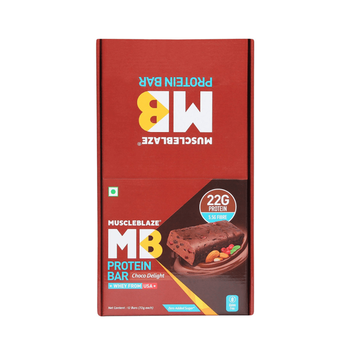 MuscleBlaze Protein Bar with 22gm Protein (72gm Each) Choco Delight