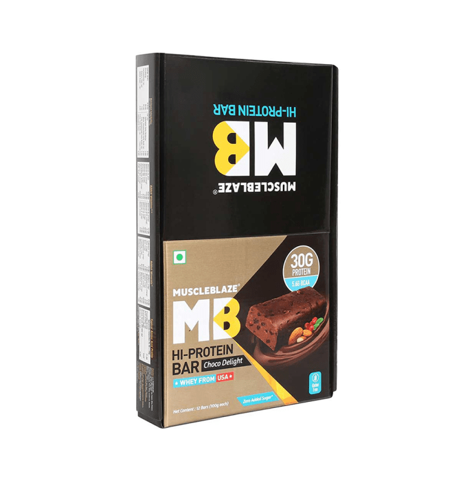 MuscleBlaze Hi-Protein Bar with 30gm Protein (100gm Each) Choco Delight