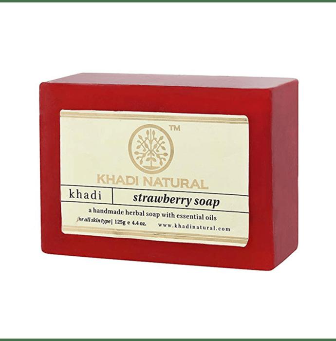Khadi Naturals Ayurvedic Strawberry Soap Pack of 3