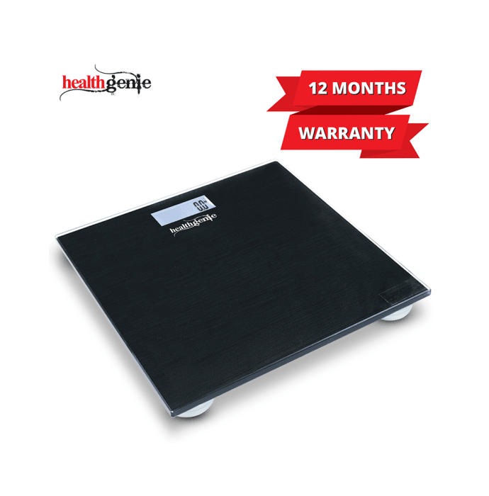 Healthgenie Digital Personal Weighing Scale with Back Light and Step On Technology - HD 221 Brushed Black