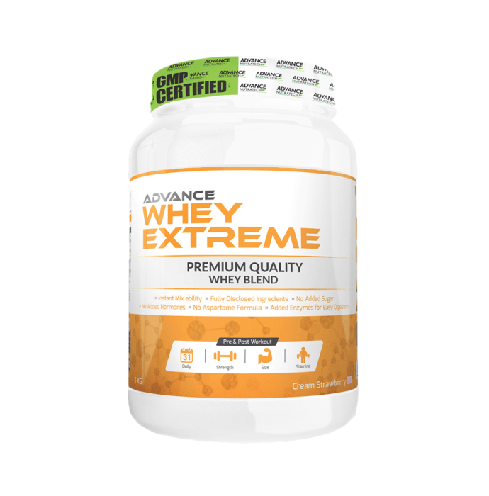 Advance Nutratech Whey Extreme Protein Powder Cream Strawberry