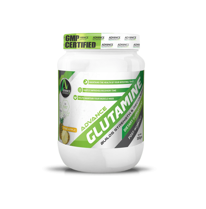 Advance Nutratech Glutamine Supplement Powder Pineapple