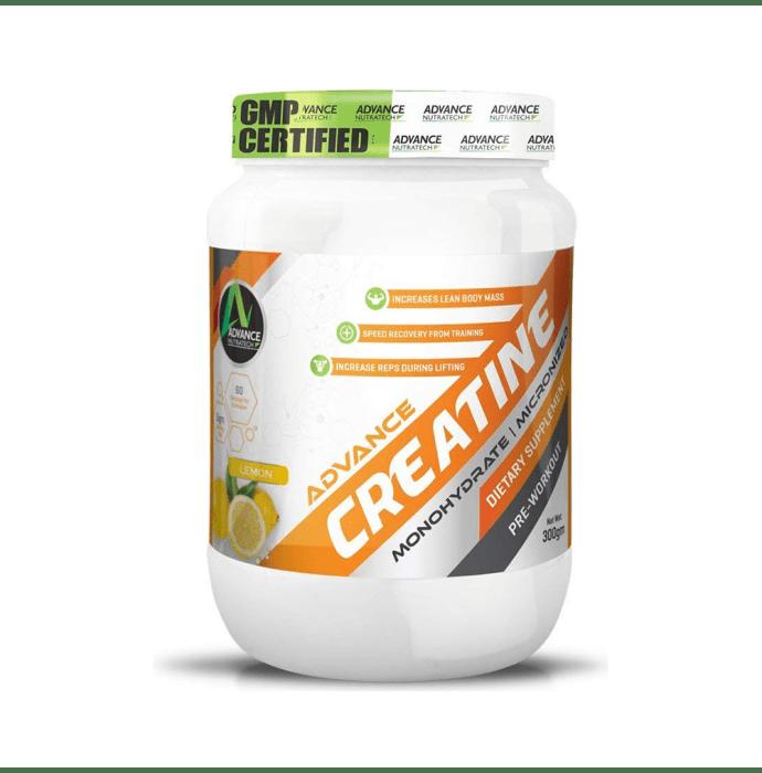 Advance Nutratech Creatine Monohydrate Powder Lemon
