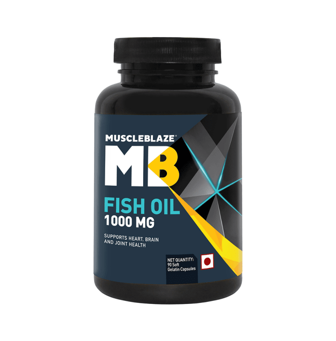 MuscleBlaze Fish Oil 1000mg Capsule
