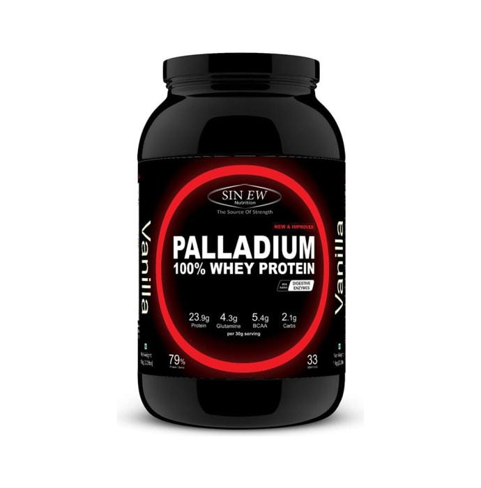 Sinew Nutrition Palladium 100% Whey Protein with Digestive Enzymes Vanilla