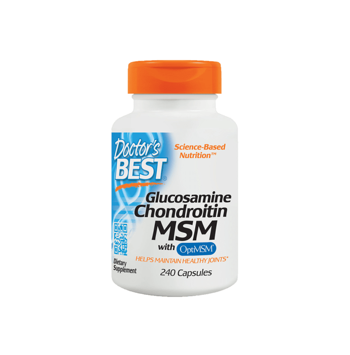 Doctor's Best Glucosamine Chondroitin MSM with OptiMSM Veggie Capsule