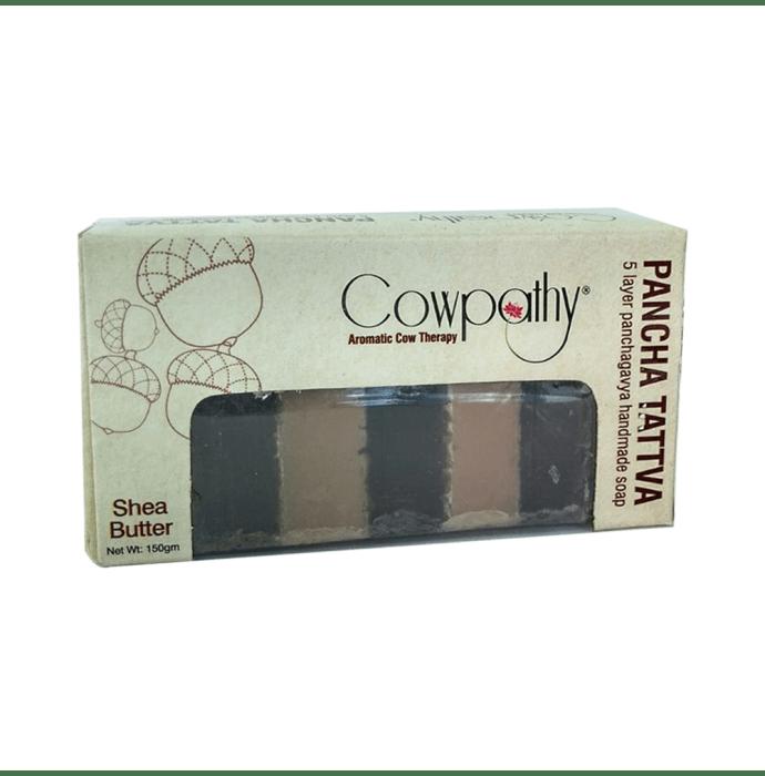Cowpathy Panchatattva Panchgavya Soap Shea Butter pack of 3