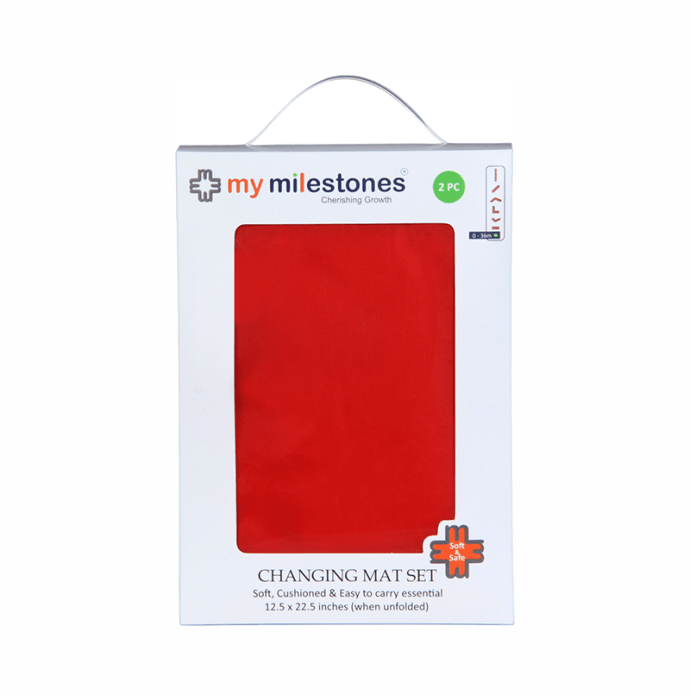 My Milestones Changing Mat Set Red