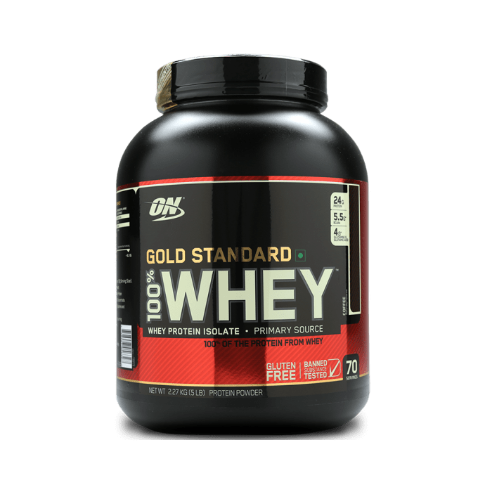 Optimum Nutrition (ON) Gold Standard 100% Whey Protein Powder Coffee