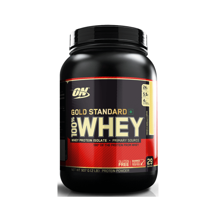 Optimum Nutrition (ON) Gold Standard 100% Whey Protein Powder French Vanilla Creme