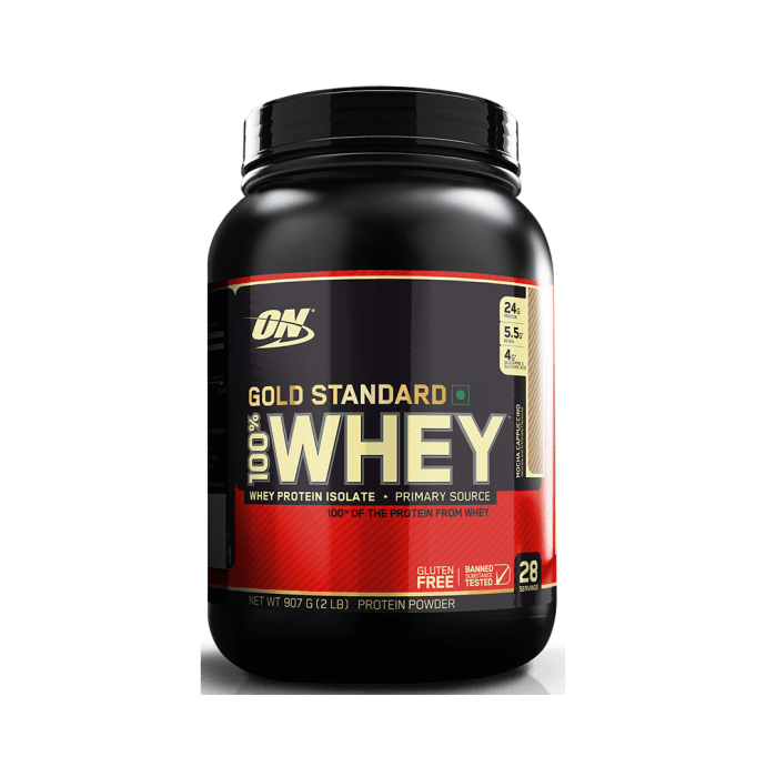 Optimum Nutrition (ON) Gold Standard 100% Whey Protein Powder Mocha Cappuccino