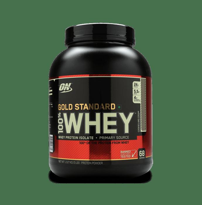 Optimum Nutrition (ON) Gold Standard 100% Whey Protein Powder Cookies & Cream