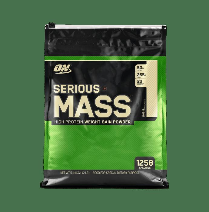 Optimum Nutrition (ON) Serious Mass Weight Gain Powder Vanilla