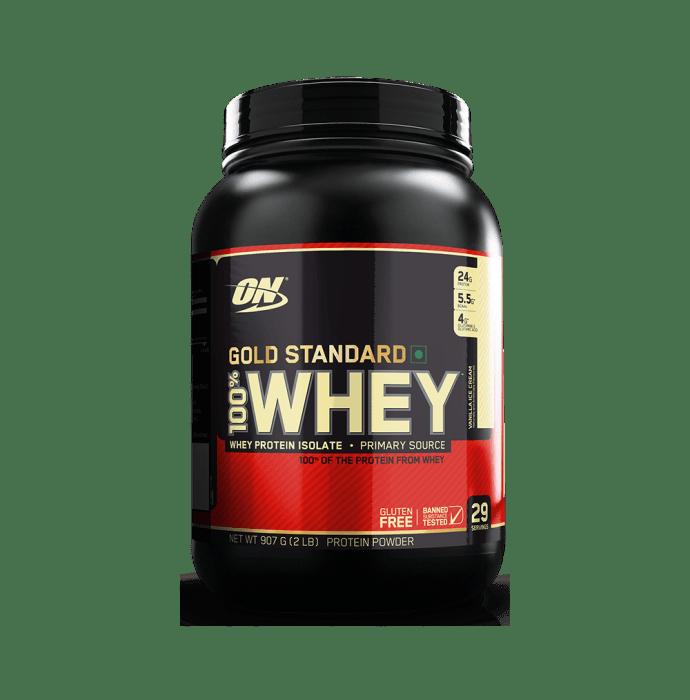 Optimum Nutrition (ON) Gold Standard 100% Whey Protein Powder Vanilla Icecream